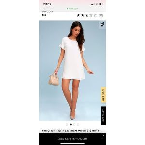 Lulu's Chic of Perfection white shift dress